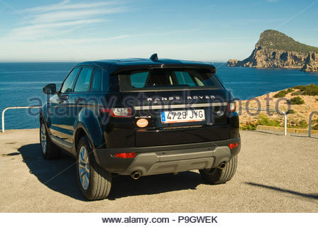 Range Rover Evoque in Ibiza, Spain. - Stock Image