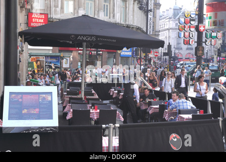 Angus Steakhouse Leicester Square London - Stock Image