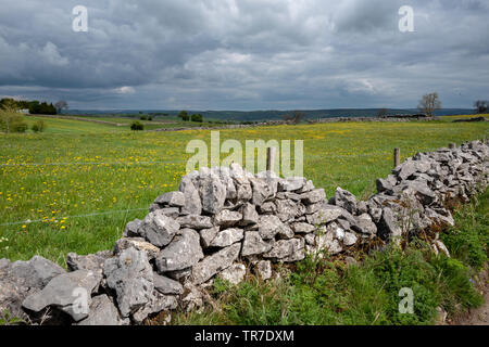 The Limestone Way in the Peak District - Stock Image