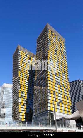 Las Vegas, Veer towers at City Center. - Stock Image