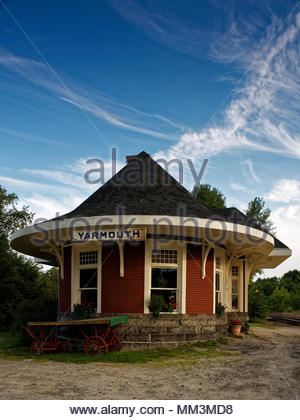 Old train station, Yarmouth, Maine, USA - Stock Image