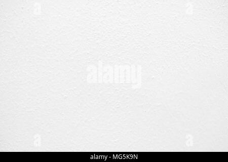White Painting Concrete Wall Texture Background. - Stock Image