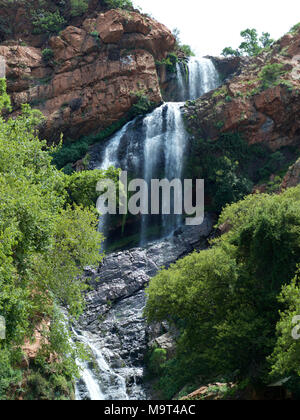 Witpoortjie Falls on the Crocodile River, Walter Sisulu Gardens, South Africa - Stock Image
