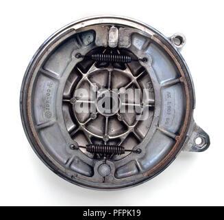 Motorcycle drum brake. - Stock Image