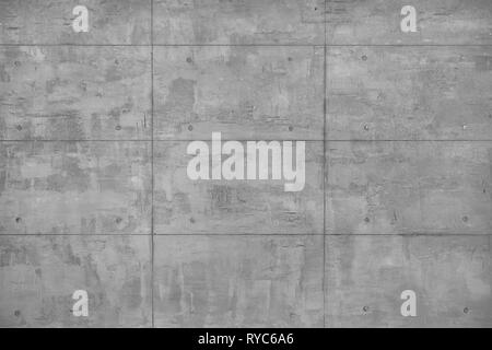 Plastered decorative beton wall as full frame background. - Stock Image