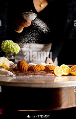 Gluten-free Myer Lemon Madeleines - Stock Image