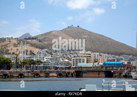Victoria Basin and Signal Hill Beyond - Cpe Town, South Africa - Stock Image