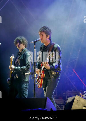 Noel Gallagher plays the Victorious festival in Portsmouth in 2016 - Stock Image