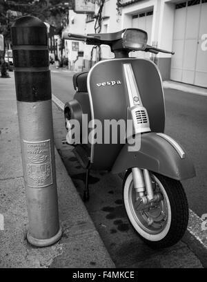 Italian Vespa in Positano, Italy - Stock Image