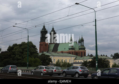Poznan Cathedral at Ostrow Tumski in Poznan, Poland. - Stock Image