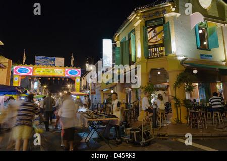 Jonker Walk Old Town in Chinatown, Melaka, Malaysia - Stock Image