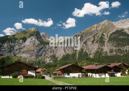 Alpine landscape near Kandersteg, Switzerland - Stock Image