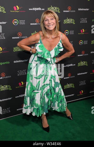 Sydney, Australia. 12th July 2019. Jack and the Beanstalk Giant 3D musical spectacular red carpet at the State Theatre. Pictured: Bonnie Lythgoe. Credit: Richard Milnes/Alamy Live News - Stock Image