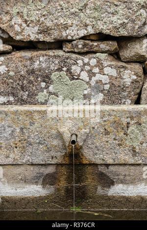 village fountain , fonte in Tourem - Stock Image