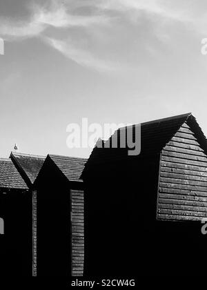 Fisher mans huts, Hastings - Stock Image