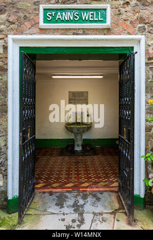 The Spring Water outlet of St Ann's Well in the Malvern Hills, Worcestershire, England - Stock Image
