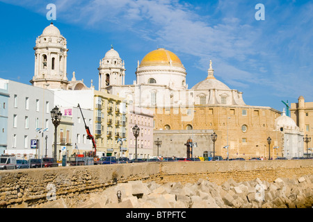 Santa Cruz Church, Cadiz, Andulucia, Spain - Stock Image