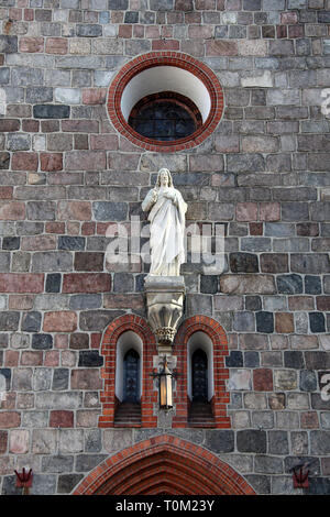 Garrison Church of Saint George at Sopot in Northern Poland - Stock Image