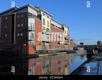 Chester City Canal waterfront, Cheshire, England, UK - Stock Image