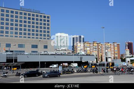Barcelo Sants railway station, Barcelona, Spain - Stock Image