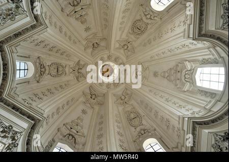 italy, rome, church of sant'ivo alla sapienza interior - Stock Image
