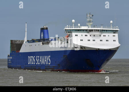Hafnia Seaways inbound Cuxhaven from Immingham - Stock Image