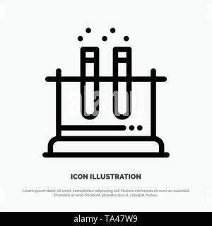 Lab, Test, Tube, Science Line Icon Vector - Stock Image