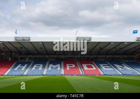 Glasgow, Scotland, UK. 14th Apr, 2019. Scottish Cup football, semi final, Aberdeen versus Celtic; General view of Hampden Park Credit: Action Plus Sports/Alamy Live News - Stock Image