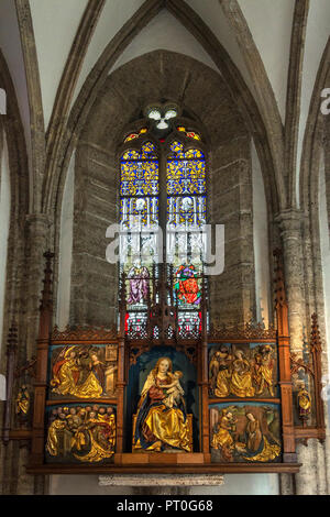 Interior of Stiftskirche Sankt Peter Salzburg in the city of Salzburg, Austria. Catholic church and monastery dating to the 7th century. - Stock Image