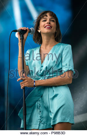 Aix-les-Bains, France. 15th July 2018. L'Impératrice performing live at Musilac festival in Aix-les-Bains (France) - 15 July 2018 Credit: Olivier Parent/Alamy Live News - Stock Image