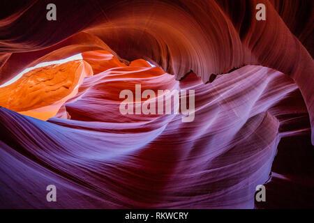 Lower Antelope Canyon in Arizona. - Stock Image