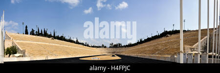 Athens, Greece. The Panathenaic Stadium hosted the first modern Olympic Games in 1896. - Stock Image