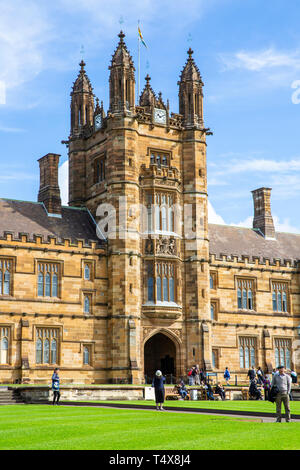 University of Sydney campus in Camperdown area, Sydney,Australia, australia's oldest university and one of the sandstone universities - Stock Image