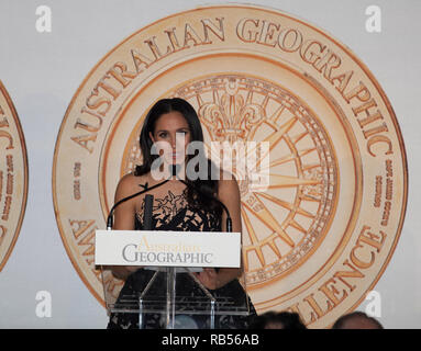 Prince Harry The Duke of Sussex Meghan, Duchess of Sussex at an awards Ceremony in Sydney tonight for the Australian Geographic society on 26 October 2018 in Sydney Australia   Meghan Markle wearing Oscar de la Renta dress at Australian Geographic Society Awards dinner in Sydney - Stock Image