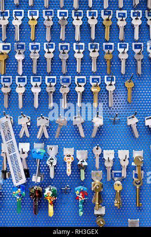 Keys hanging - Stock Image
