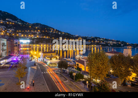 French Reviera, Villefranche sur Mer, twilight, - Stock Image