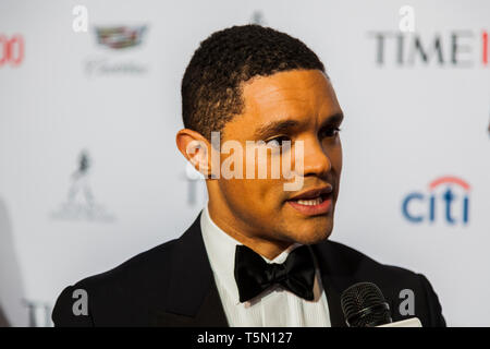 Host Trevor Noah attends TIME 100 GALA on April 23 in New York City - Stock Image