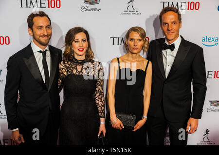 James Monsees & Adam Bowen attend TIME 100 GALA on April 23 in New York City - Stock Image
