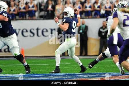 Glendale, AZ, USA. 30th Dec, 2017. QB Trace McSorley #9 of Penn State during the Playstation Fiesta Bowl college - Stock Image