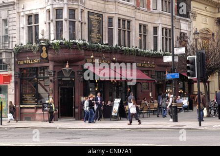 The Wellington Pub at The Strand London - Stock Image