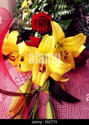 Flowers bouquet closeup - Stock Image