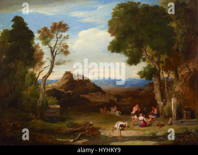 Charles Lock Eastlake   Classical landscape   Google Art Project - Stock Image