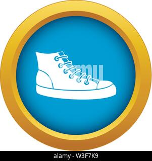 Sneakers icon blue vector isolated - Stock Image