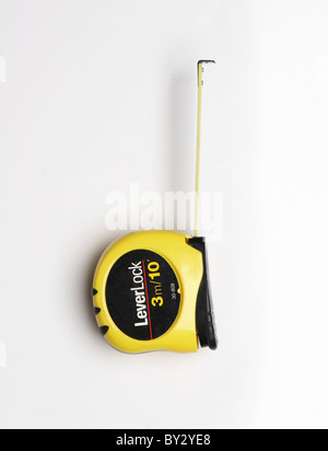 Roll-up measuring tape - Stock Image
