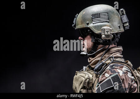 U.S. Marine Corps special operations command Marsoc raider. - Stock Image