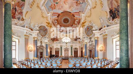 Kaisersaal, Abbey Saint Mang, Fuessen, Bavaria, Germany, Europe - Stock Image