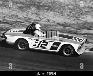 1973 Triumph TR6 U.S. C production SCCA Championship - Stock Image