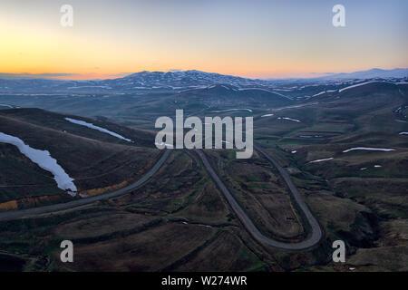 Mountains in Nothern Armenia taken in April 2019rn' taken in hdr - Stock Image