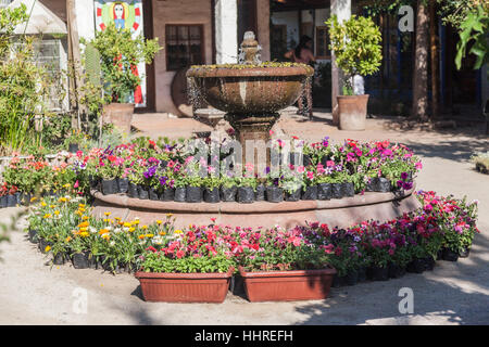 Fountain Pueblito de los Domenicos Santiago do Chile - Stock Image
