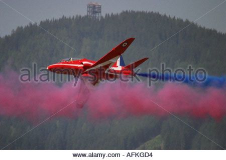 Zeltweg 2005 AirPower 05 airshow Austria Red Arrows Hawk RAF - Stock Image